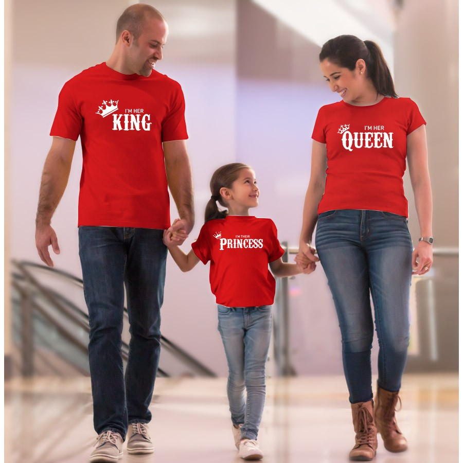 THE FAMILY TEES - MOM DAD & DAUGHTER REAL BOSS
