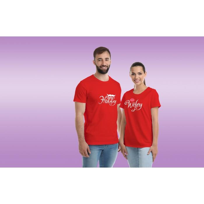 COUPLE TEES-HUBBY&WIFEY